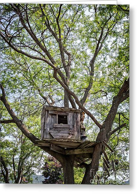 Treehouse Greeting Card by Edward Fielding