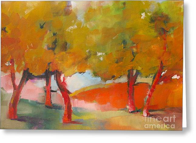 Trees #5 Greeting Card by Michelle Abrams