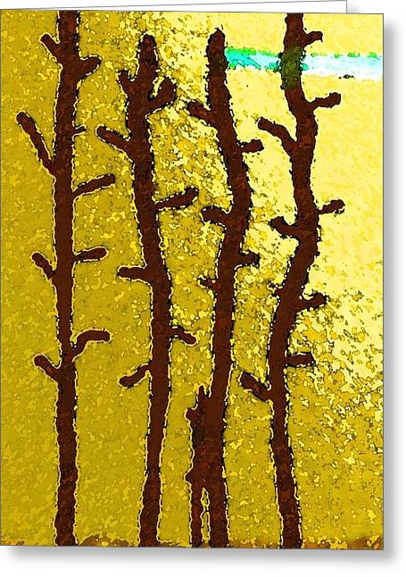 Trees - A Tribute To Vivian Anderson Greeting Card by Lenore Senior
