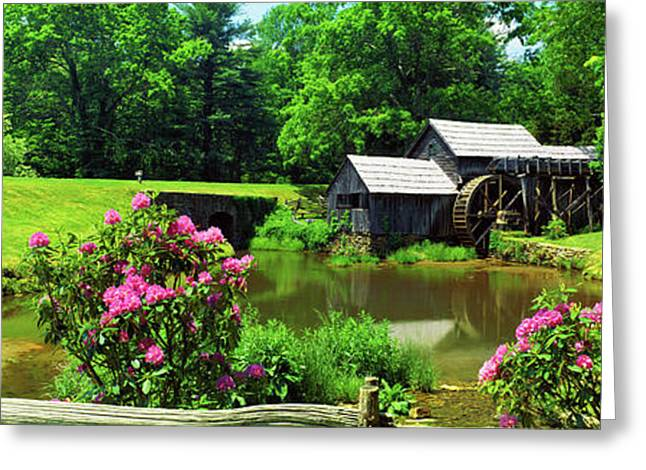 Trees Around A Watermill, Mabry Mill Greeting Card