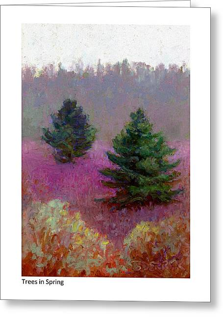 Trees In Spring Greeting Card