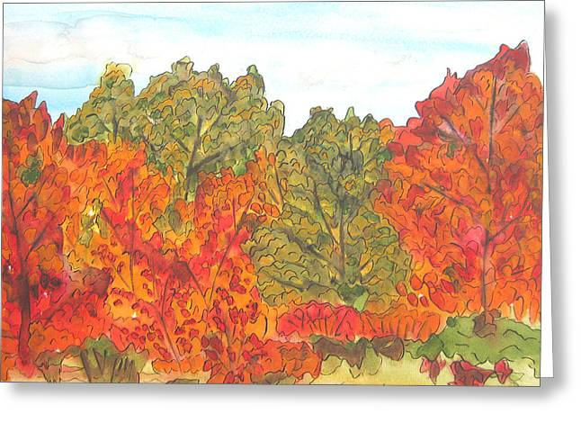 Trees Of Fall Greeting Card