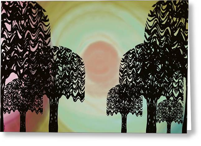 Trees Of Light Greeting Card