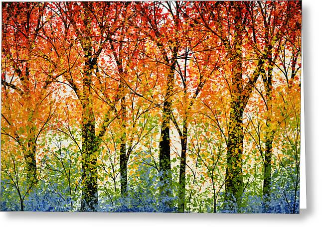 Trees Of The Rainbow Greeting Card by Amy Giacomelli