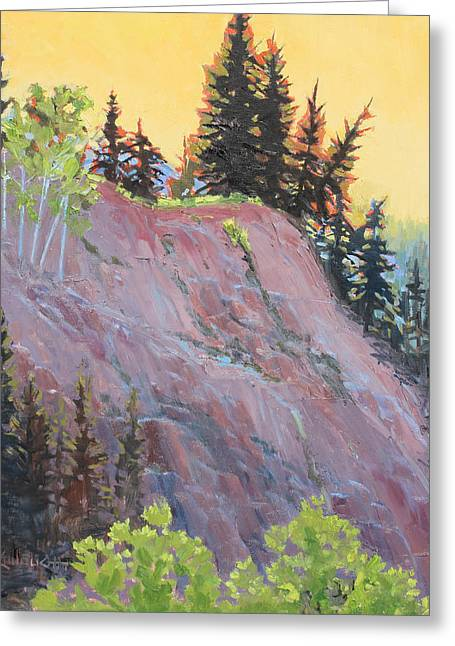 Trees On Top Greeting Card by Susan McCullough