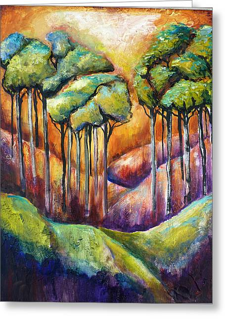 Trees Greeting Card by P Maure Bausch
