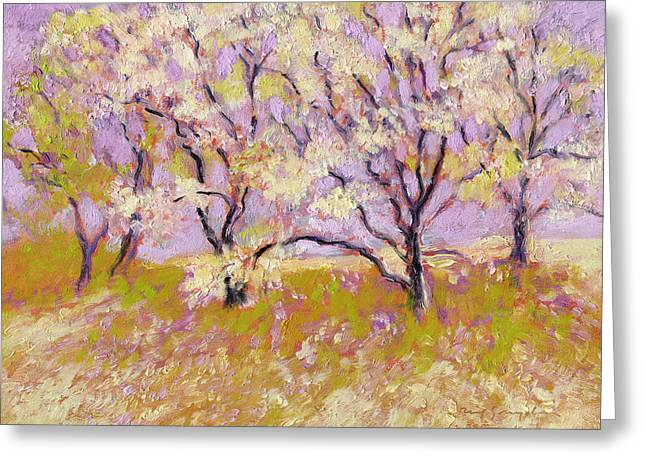 Trees I Greeting Card by J Reifsnyder