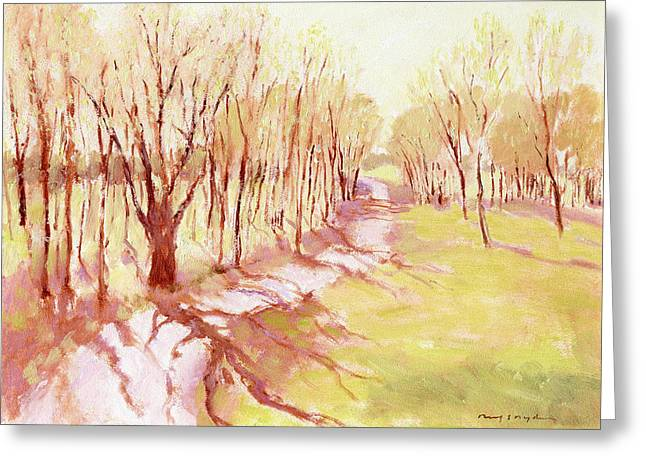 Trees4 Greeting Card by J Reifsnyder