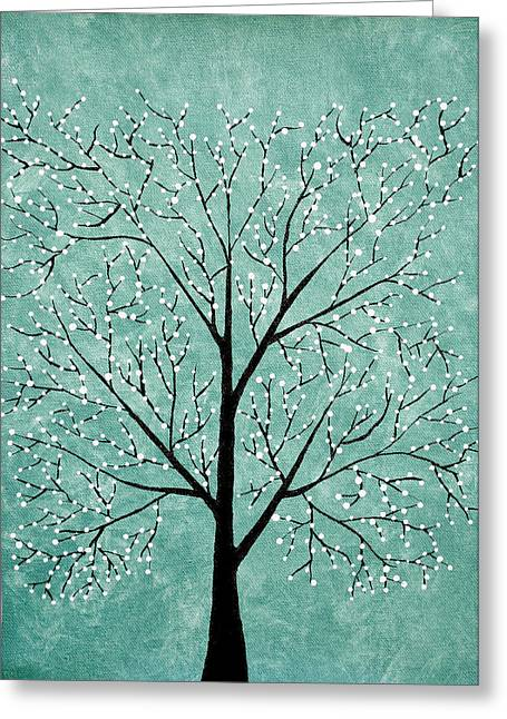 Treescape 5 Greeting Card by Sumit Mehndiratta