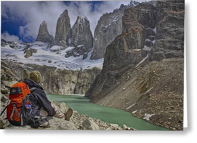 Trek To Torres Del Paine Greeting Card