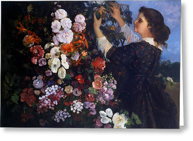 Trellis Greeting Card by Gustave Courbet