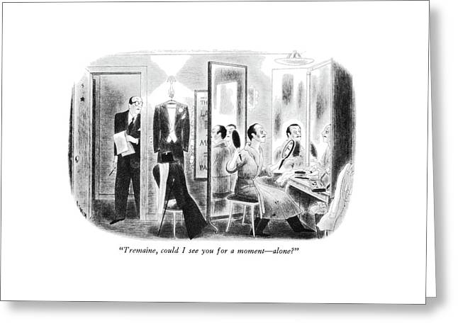 Tremaine, Could I See You For A Moment - Alone? Greeting Card by Richard Taylor