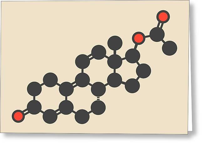 Trenbolone Acetate Molecule Greeting Card by Molekuul