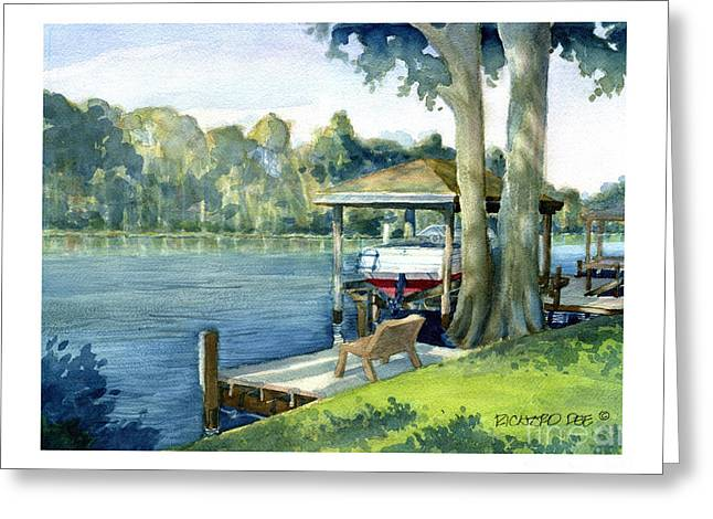 Trent River Boathouse Greeting Card