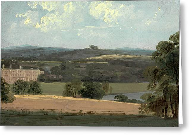 Trentham Park, Formerly Attributed To John Constable Greeting Card