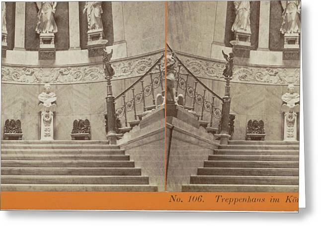 Treppenhaus Im Königl Palais Berlin, Germany Greeting Card by Artokoloro