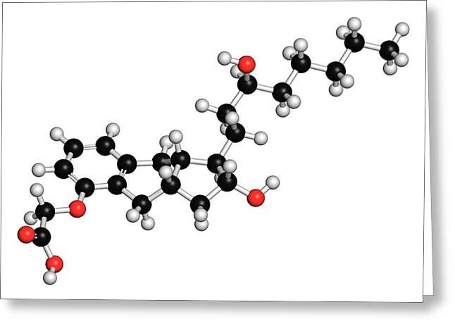 Treprostinil Hypertension Drug Molecule Greeting Card