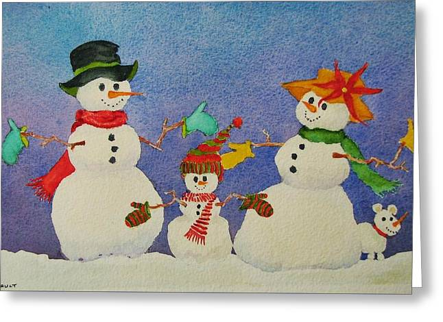 Tres Chic Greeting Card by Mary Ellen Mueller Legault