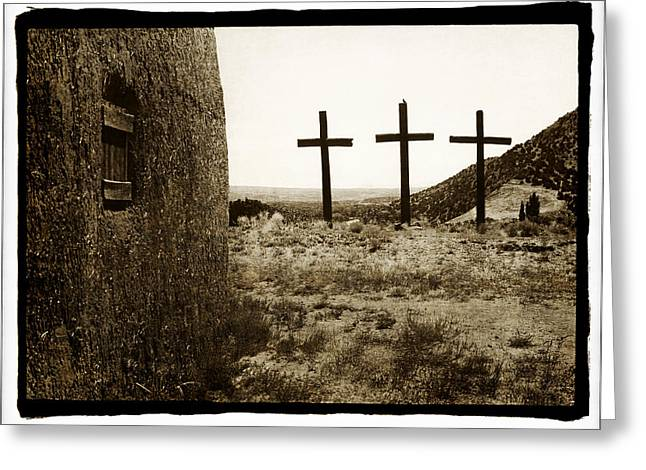 Tres Cruces New Mexico Greeting Card