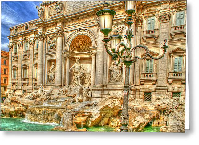 Trevi Fountain In Rome Greeting Card