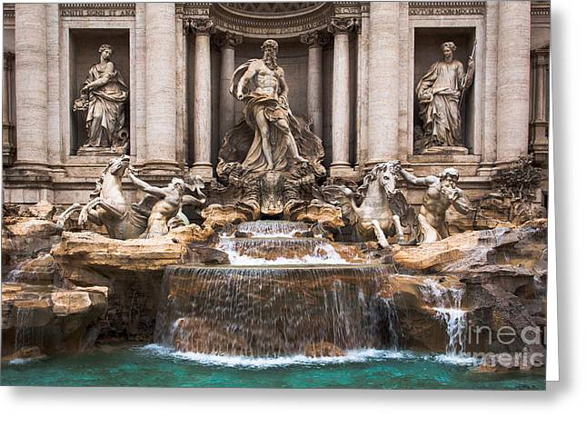 Greeting Card featuring the photograph Trevi Fountain by John Wadleigh