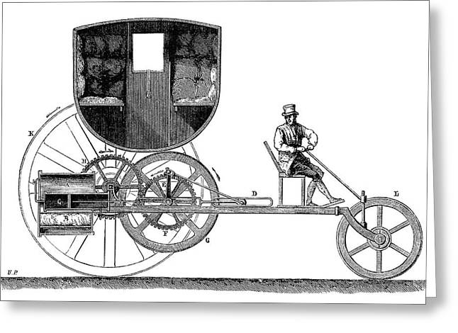 Trevithick Steam Car Greeting Card by Science Photo Library