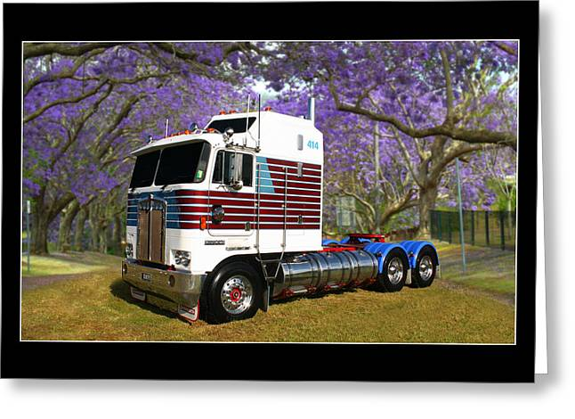 Greeting Card featuring the photograph Trev's Kenworth by Keith Hawley