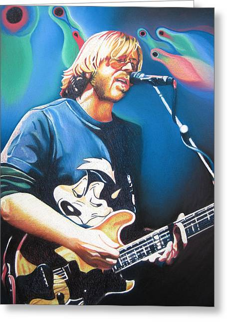 Trey Anastasio And Lights Greeting Card by Joshua Morton