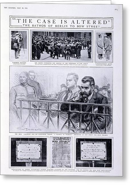 Trial Of Sir Roger Casement Greeting Card by British Library
