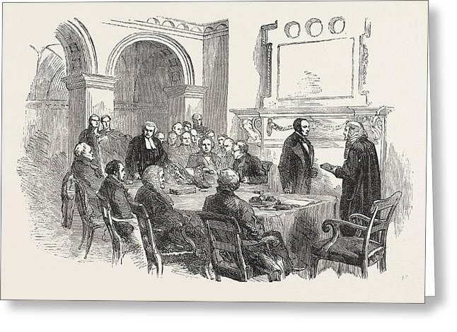 Trial Of The Pyx At The Office Of The Comptroller-general Greeting Card by English School
