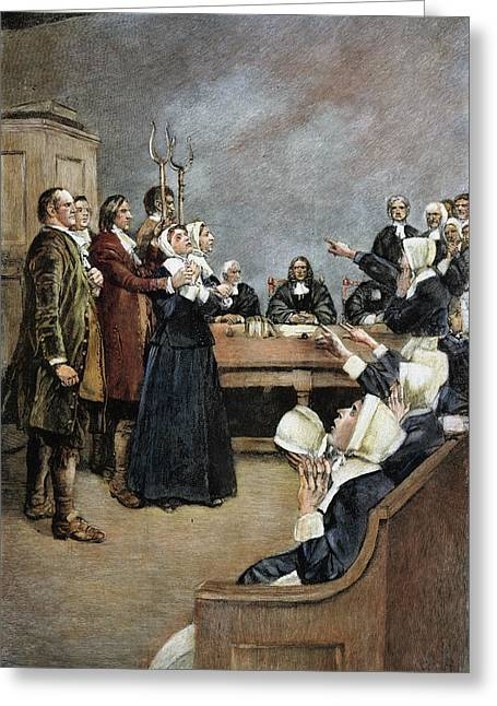 Trial Of Two Witches,salem Greeting Card by Granger