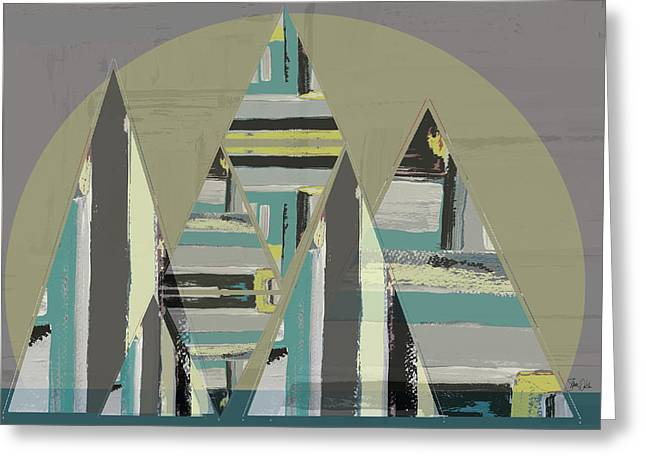 Triangle Landscape II Greeting Card by Shanni Welsh