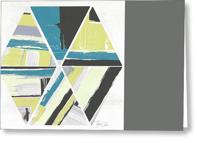 Triangle Pattern II Greeting Card by Shanni Welsh