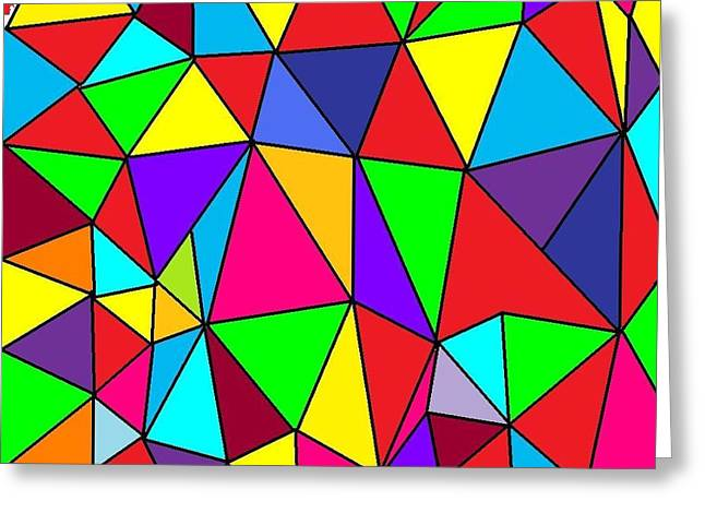 Triangles # 6 Greeting Card