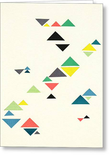 Triangles Greeting Card by Cassia Beck
