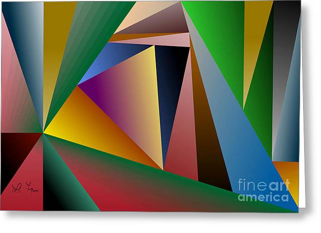 Triangles Greeting Card by Leo Symon