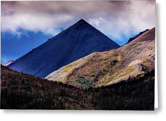 Triangular Pyramid Mountain, Denali Greeting Card