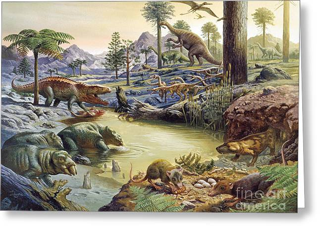 Triassic Landscape Greeting Card by Publiphoto