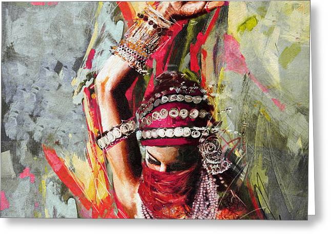 Tribal Dancer 5 Greeting Card