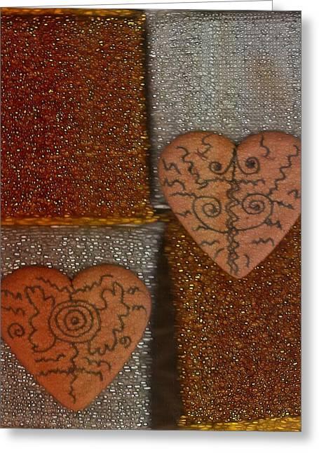 Tribal Hearts Greeting Card