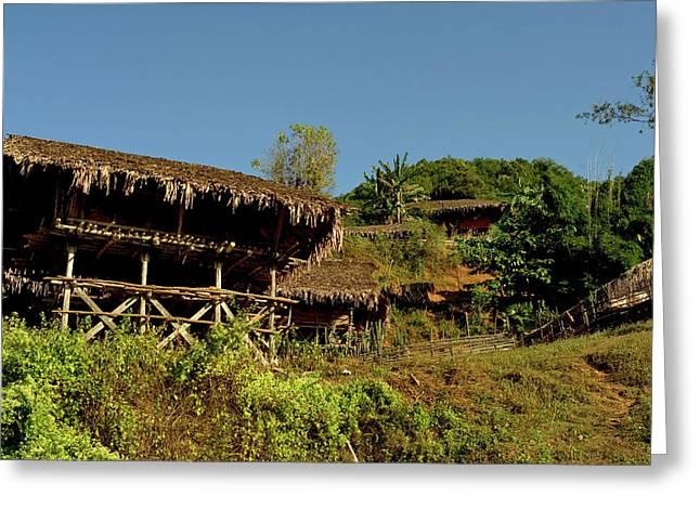Tribal Homes In Arunachal Pradesh Greeting Card