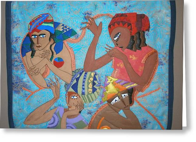 Tribal Greeting Card by Linda Egland