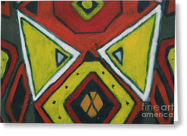 Tribal Mask Greeting Card