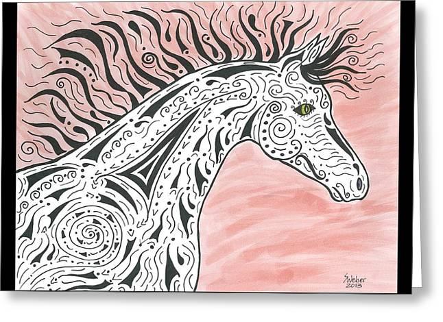 Tribal Spirit Wind Greeting Card by Susie WEBER