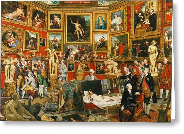 Tribuna Of The Uffizi Greeting Card by Johann Zoffany