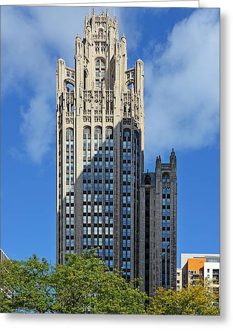 Tribune Tower Chicago - History Is Part Of The Building Greeting Card by Christine Till