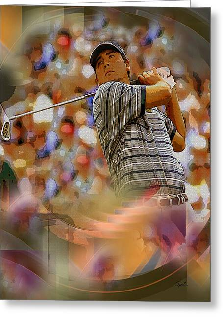 Tribute To Angel Cabrera Greeting Card