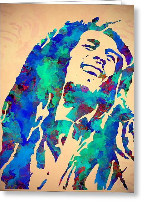 Tribute To Bob Marley Watercolor Painting Painting By