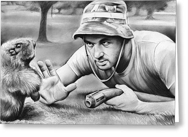 Tribute To Caddyshack Greeting Card by Greg Joens