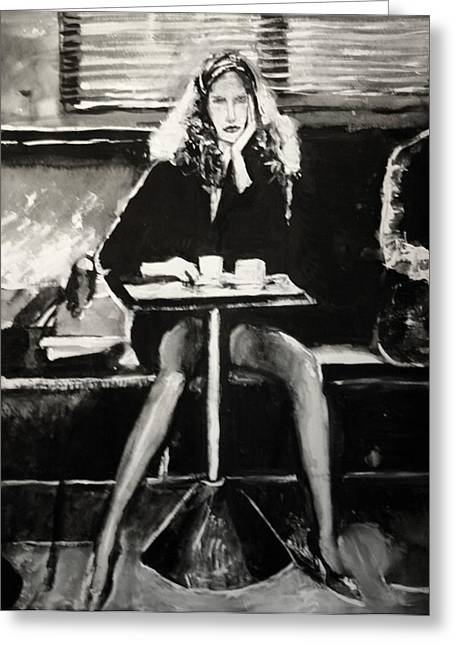 Tribute To Helmut Newton Greeting Card